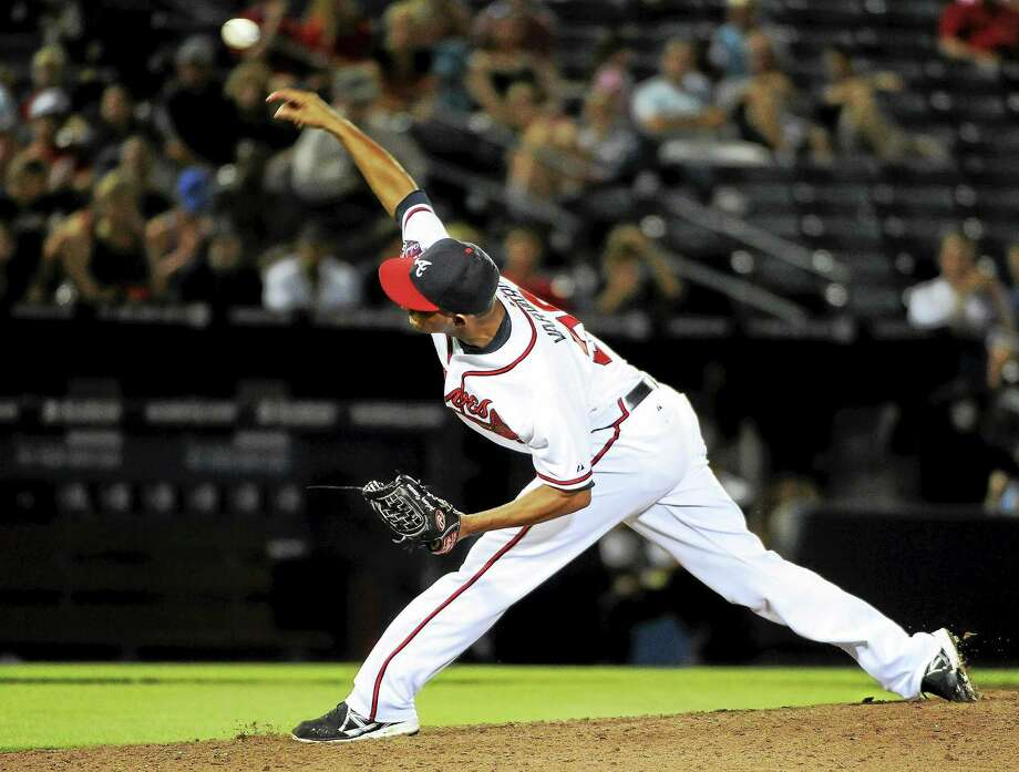 The Boston Red Sox traded for Atlanta Braves relief pitcher Anthony Varvaro. Photo: David Tulis — The Associated Press File Photo  / AP