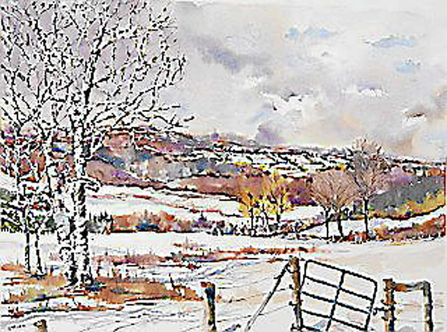 "Submitted photos - Diane Stoner""Edge of Winter"" by Diane Stoner is one of the paintings that will be on display this fall in the gallery at the Oliver Wolcott Library in Litchfield. Photo: Journal Register Co."