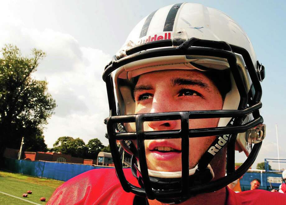 (Peter Hvizdak — Register)Yale University quarterback Morgan Roberts, a transfer from Clemson, at practice Tuesday August 27, 2013. Photo: New Haven Register / ©Peter Hvizdak /  New Haven Register
