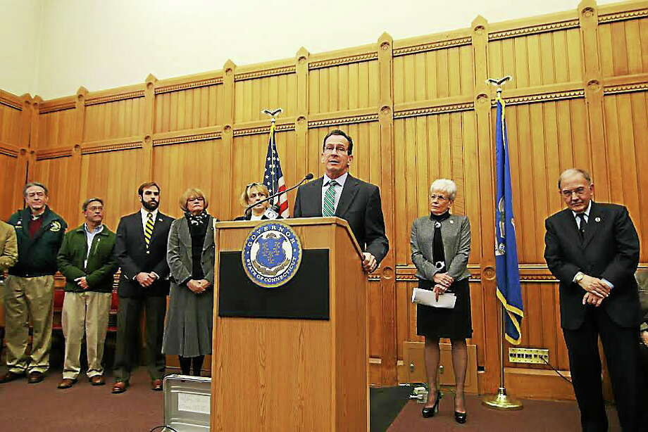 Gov. Dannel P. Malloy announces a proposal to raise the minimum wage in Connecticut. Photo: File Photo