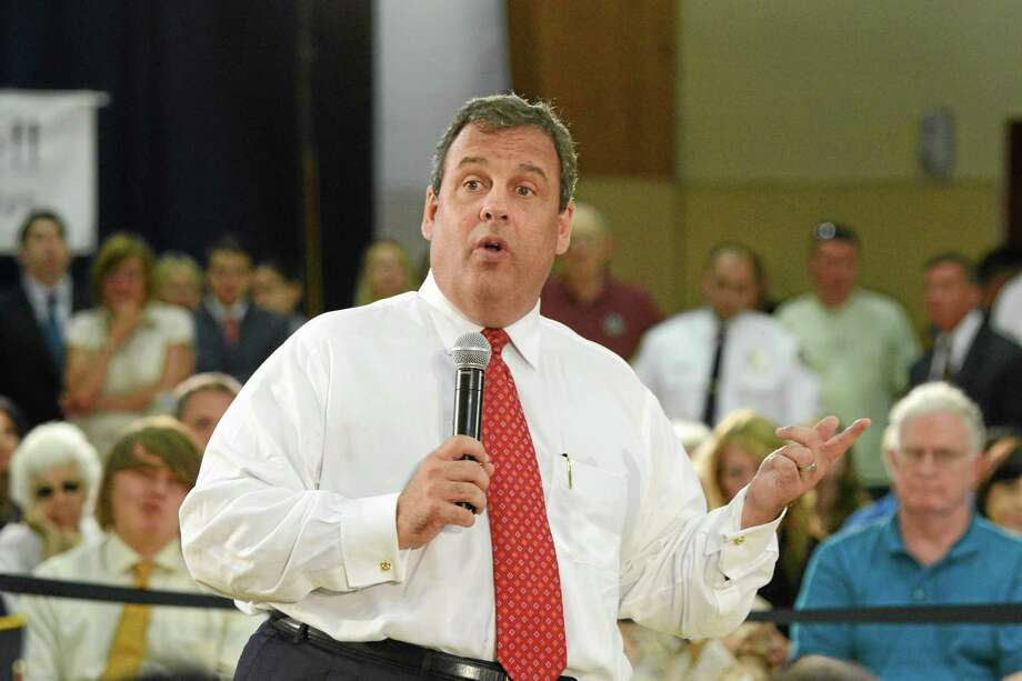 New Jersey Gov. Chris Christie hosts a Town Hall meeting in Caldwell, N.J., Tuesday, July 1, 2014. Photo: (AP Photo/The Record, Marko Georgiev) / Northjersey.com