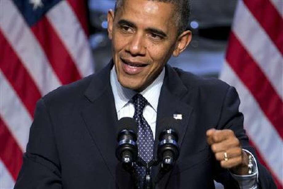 President Barack Obama speaks Thursday in Washington. (AP Photo/ Evan Vucci) Photo: AP / AP