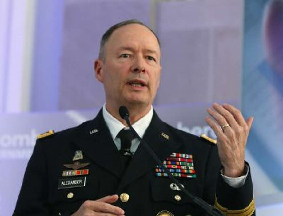 U.S. Army Gen. Keith Alexander speaks Thursday in Washington, D.C., at an event sponsored by Bloomberg Government on privacy concerns of spying. Photo: Getty Images / 2013 Getty Images