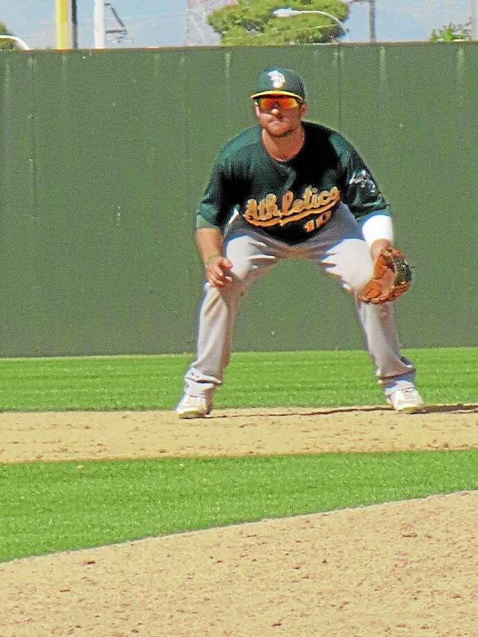 Mike Fabiaschi finished his professional baseball career with a .232 batting average, three home runs and 39 RBI in parts of four seasons in the Oakland Athletics organization. Photo: Submitted Photo
