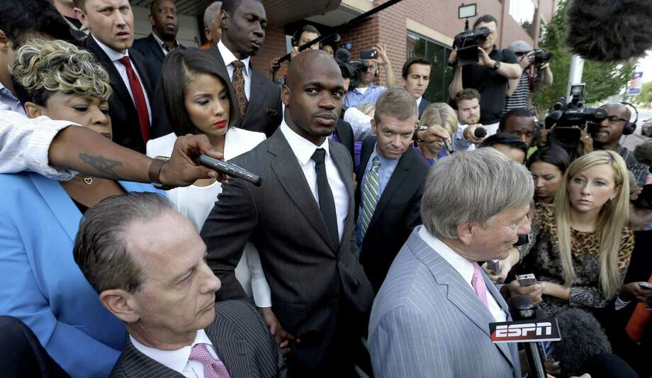 The NFL Players Association filed a federal lawsuit Monday for Adrian Peterson, asking the court to dismiss an arbitration ruling that upheld the NFL's suspension of the star running back. Photo: David J. Phillip — The Associated Press File Photo  / AP