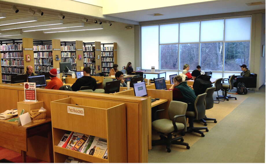 People studying in the Oliver Wolcott Library. Photo: Contributed Photo