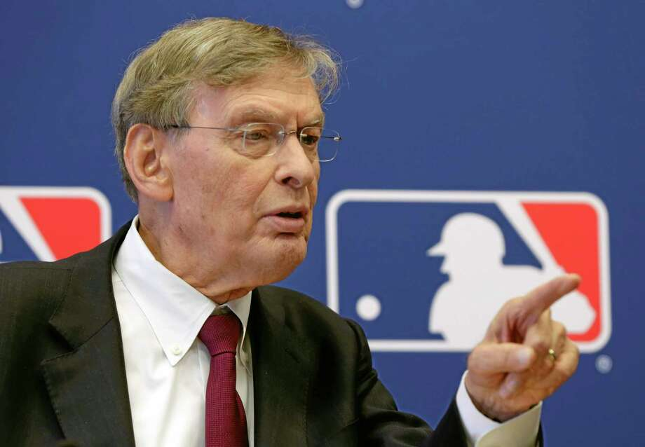 Commissioner Bud Selig answers a question during a news conference at Major League Baseball headquarters, in New York,  Thursday, May 16, 2013. Major League Baseball hopes to expand video review by umpires for the 2014 season and says all calls other than balls and strikes could be subject to instant replay. ( Photo: Richard Drew — The Associated Press  / AP