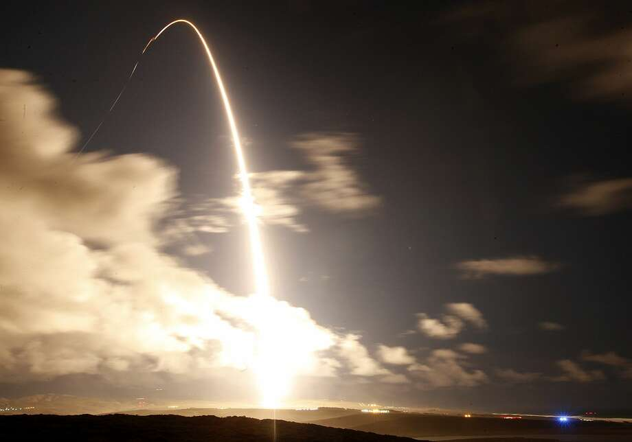 United Launch Alliance Atlas V rocket carrying a National Reconnaissance Office satellite launches from Space Launch Complex-3 at Vandenberg Air Force Base Friday, Dec. 12., 2014. (AP Photo/ Photo: AP / The Santa Maria Times