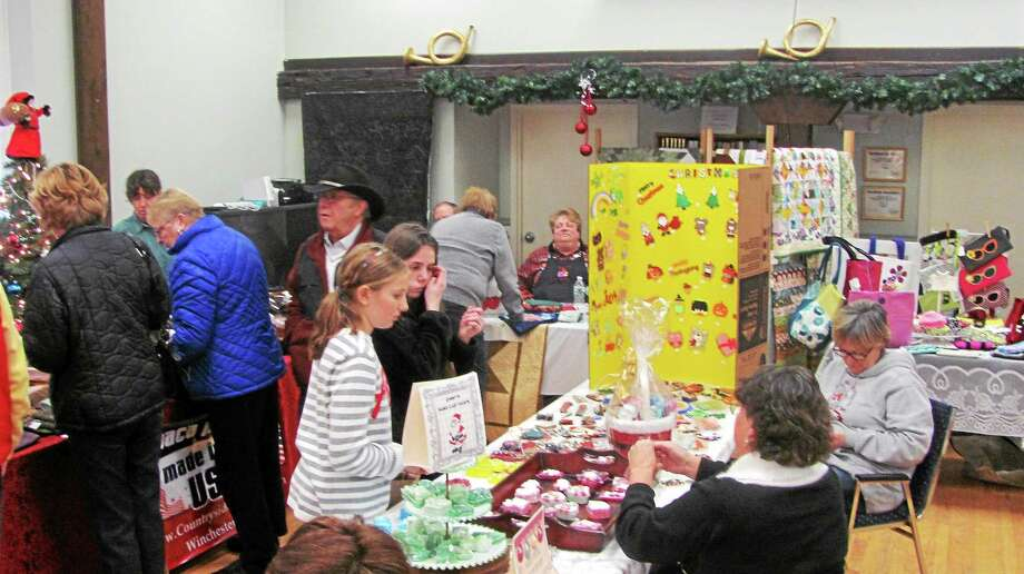 People fill the Colebrook Center on Saturday for the Colebrook Community Holiday Fair. Photo: John Nestor — Special To The Register Citizen