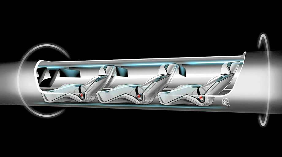FILE - This file image released by Tesla Motors shows a sketch of the Hyperloop capsule with passengers onboard. When billionaire entrepreneur Elon Musk published fanciful plans to shoot capsules full of people at the speed of sound through a tube connecting Los Angeles and San Francisco, he asked the public to perfect his rough plans. From tinkerers to engineers, the race is on. (AP Photo/Tesla Motors, file) Photo: AP / Tesla Motors