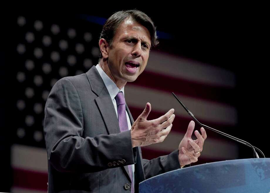 FILE - In this Feb. 11, 2012 file photo, Republican Gov. Bobby Jindal of Louisiana addresses activists from America's political right at the Conservative Political Action Conference (CPAC) in Washington. Jindal planned to file a lawsuit Wednesday Aug. 27, 2014 against the Obama administration, accusing it of illegally manipulating federal grant money and regulations to force states to adopt the Common Core education standards. (AP Photo/J. Scott Applewhite, File) Photo: AP / AP