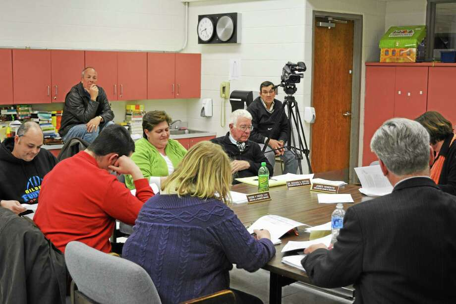 The Winchester Board of Education meets. Photo: Register Citizen File Photo