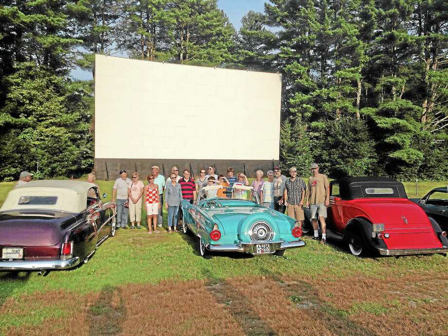 """Local supporters came out on Aug. 22 to film a promotion video for the Pleasant Valley Drive-In in Honda's """"Project Drive-In"""" contest. Photo: Kate Hartman—Register Citizen"""