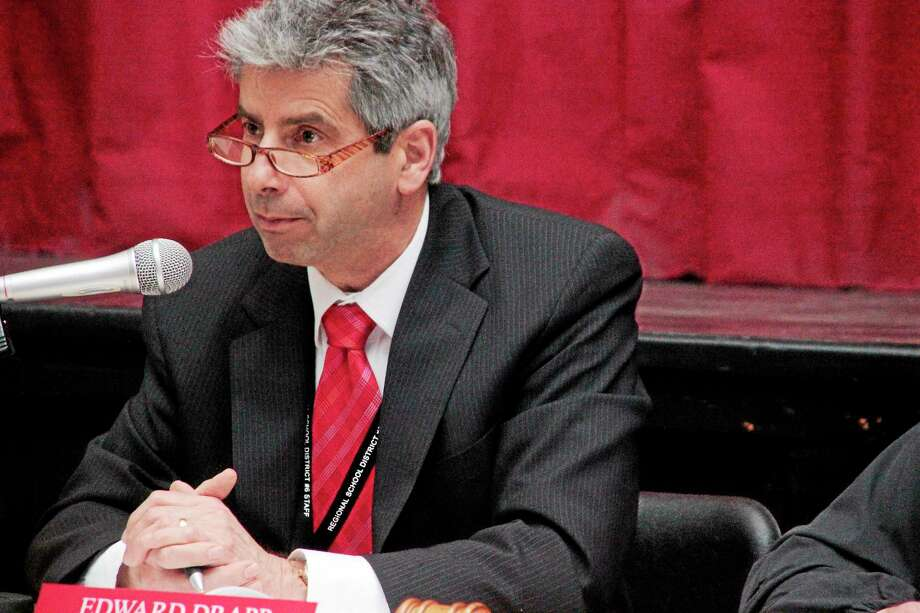 Superintendent Ed Drapp presented the budget at the budget hearing. Photo: Register Citizen File Photo