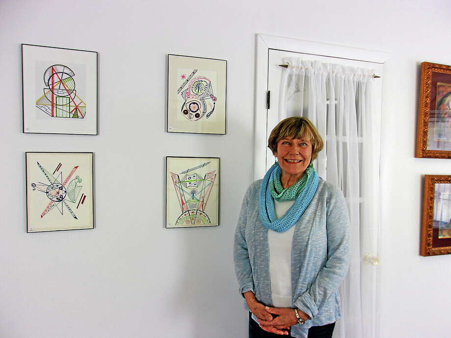Pita Lemstra and her drawings (Contributed Photo) Photo: Journal Register Co. / Copyright 2008