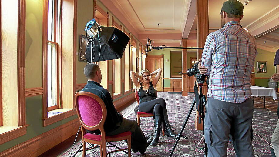 Greg Williams interviewed Kristen Johnston. Photo: Contributed Photo