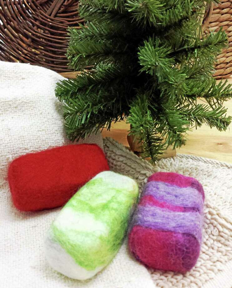 Submitted photo - Ginger Balch Soaps covered with jackets of soft wool make an enticing and easy gift for Christmas. Photo: Journal Register Co.