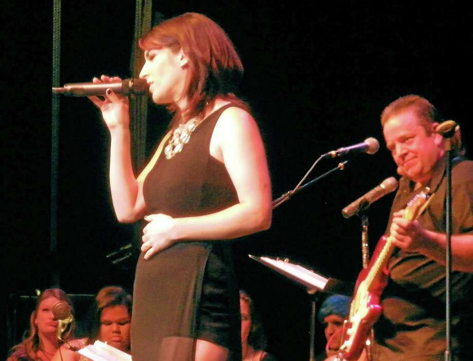Sara Larkin was named the winner of the 2014 Northwest Idol competition at the Warner Theatre in Torrington Saturday. Photo: Stephen Underwood - Special To The Register