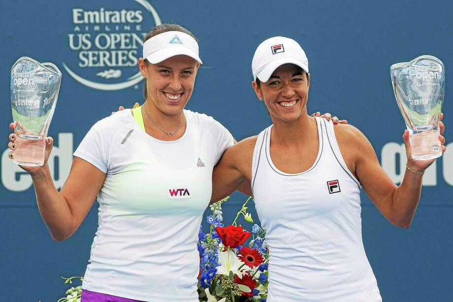 Andreja Klepac and Silvia Soler-Espinosa won the Connecticut Open doubles title on Saturday at the Connecticut Tennis Center in New Haven. Photo: Photo Courtesy Of Connecticut Open
