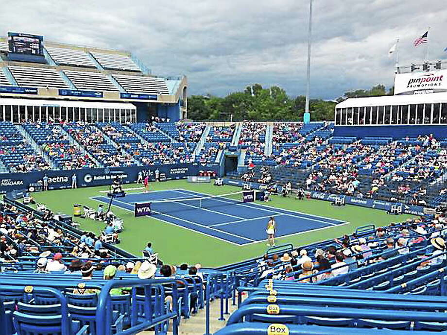 While the Connecticut Open's total attendance increased for the first summer since 2010, empty seats still dot the lower bowl at the Connecticut Tennis Center. Photo: Chris Hunn — Register