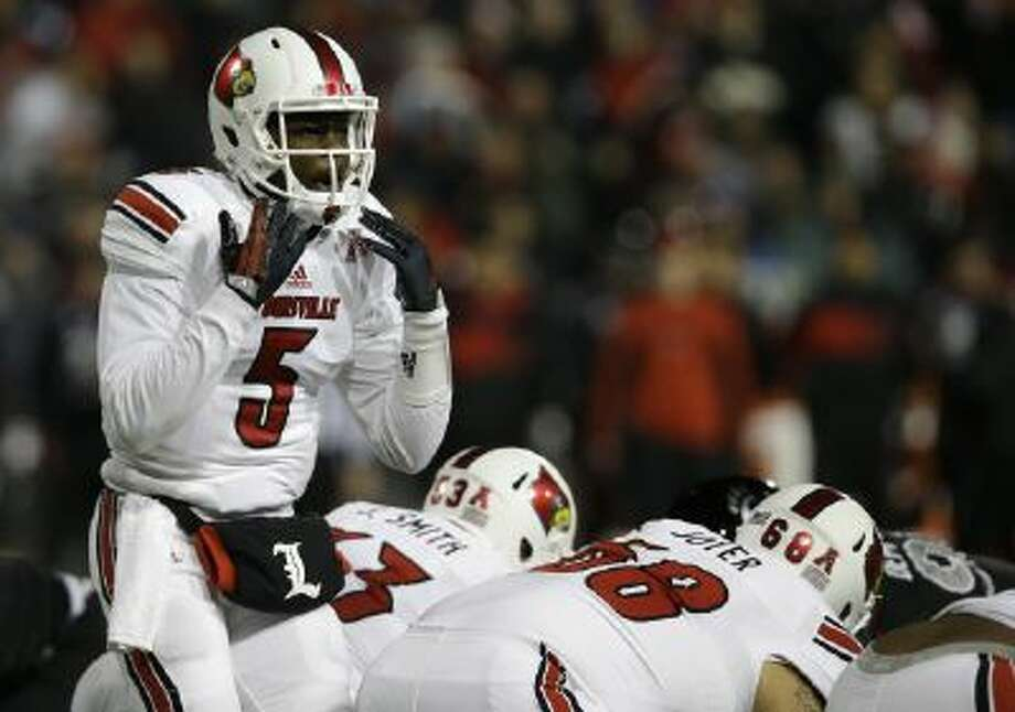 Louisville quarterback Teddy Bridgewater (5) will look to put on a show against Miami Dec. 28 in the Russell Athletic Bowl.