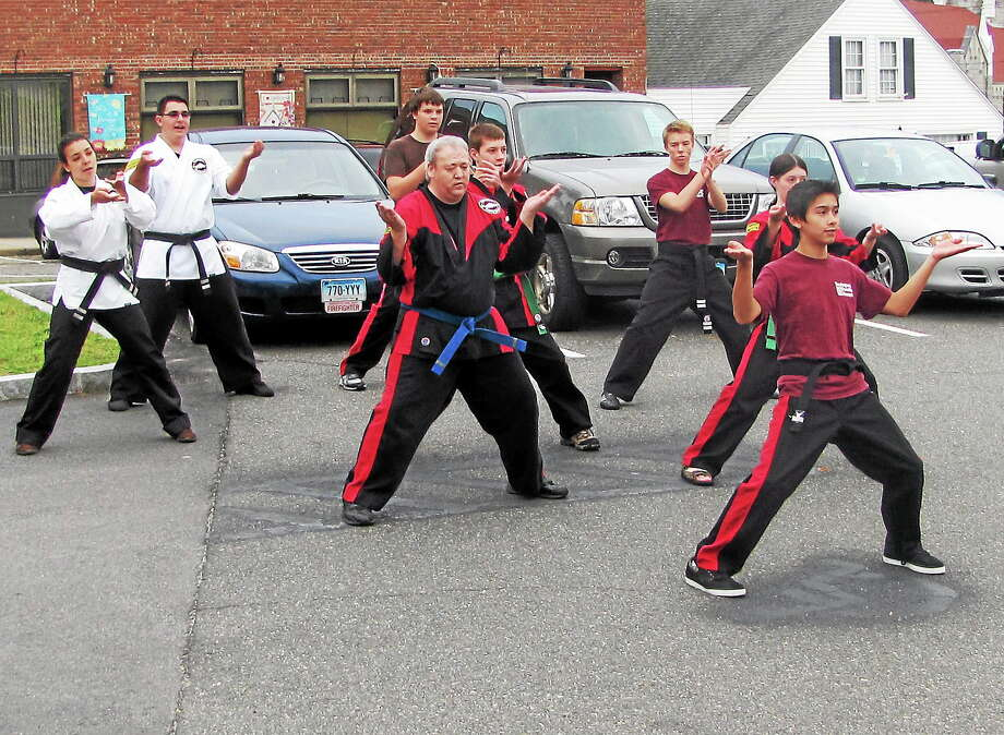 Torrington Family Kempo was in attendance at Main Street Marketplace Thursday for a fitness and health-themed night. Photo: John Nestor - Special To The Register Citizen