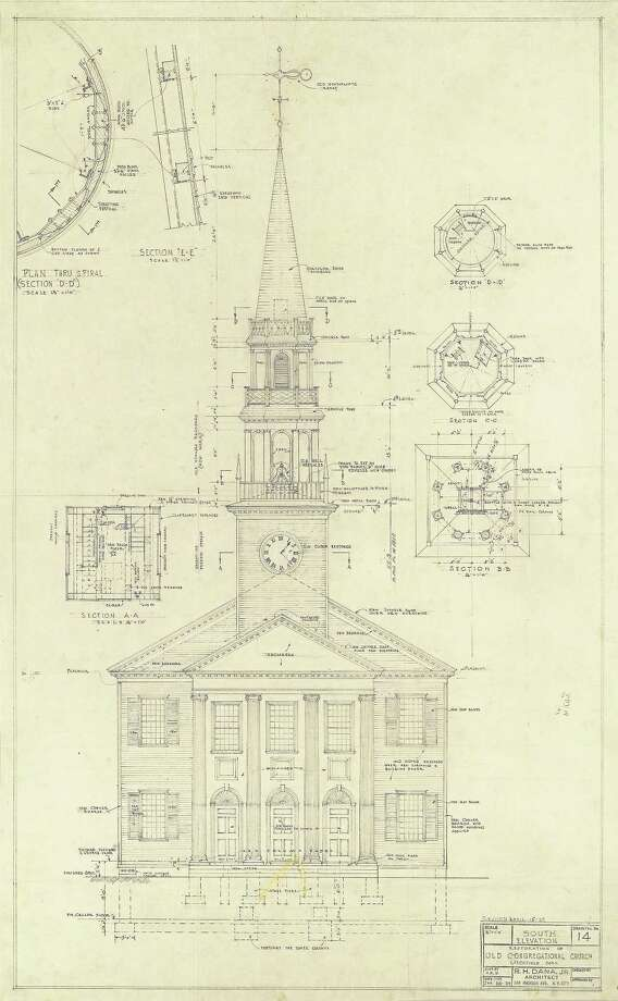 Litchfield historical society to open colonial revival exhibit april submitted photo congregatioanl church blueprint photo journal register co litchfield historical society malvernweather Gallery