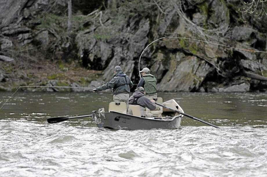 Fishermen on the Housatonic River. Photo: File Photo