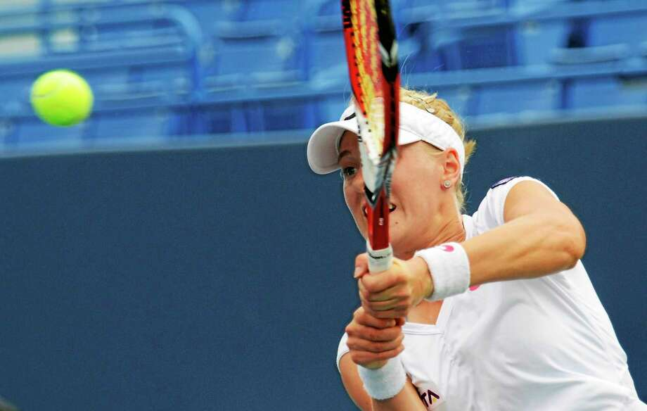 Bob Child / For the Register Alison Riske, the final American in the field, was eliminated in the quarterfinals Thursday of the Connecticut Open. Photo: New Haven Register / New Haven Register