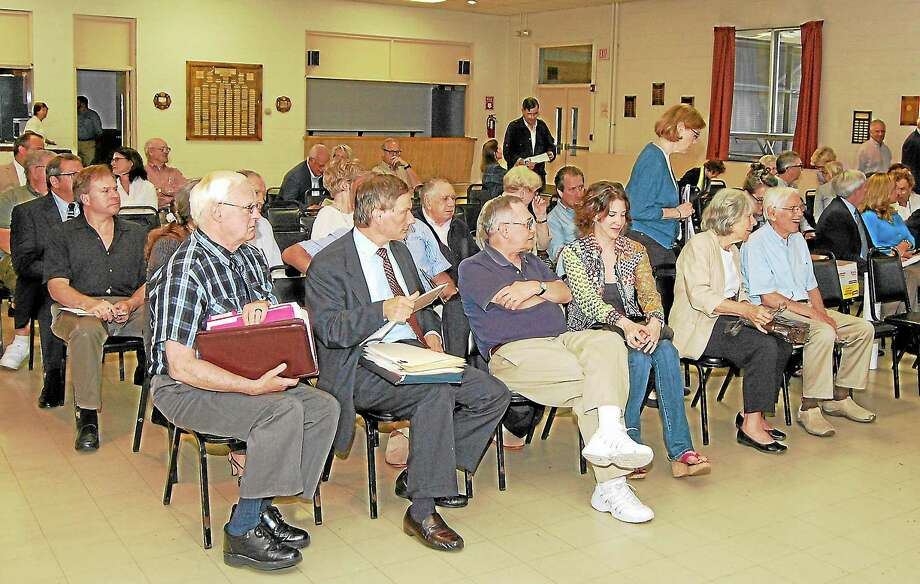 Ryan Flynn-Register CitizenThe room at Litchfield Fire House was near full on Monday, Aug. 19, with members of the public looking to see the results of Stop & Shop's application and the hearing for Forman School. Photo: Journal Register Co.