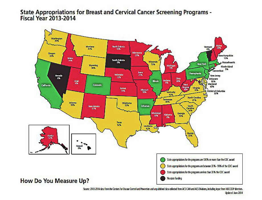 Credit: ìHow Do You Measure Up?î report/American Cancer Society Cancer Action Network Photo: Journal Register Co.