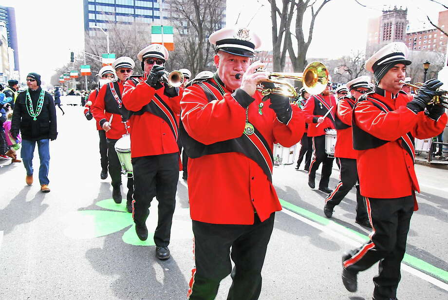 Torrington's Saint Peter's Drum Corps won Best Overall Unit at the 2014 Greater New Haven St. Patrick's Day Parade. Photo: Photo By Bill O'Brien.