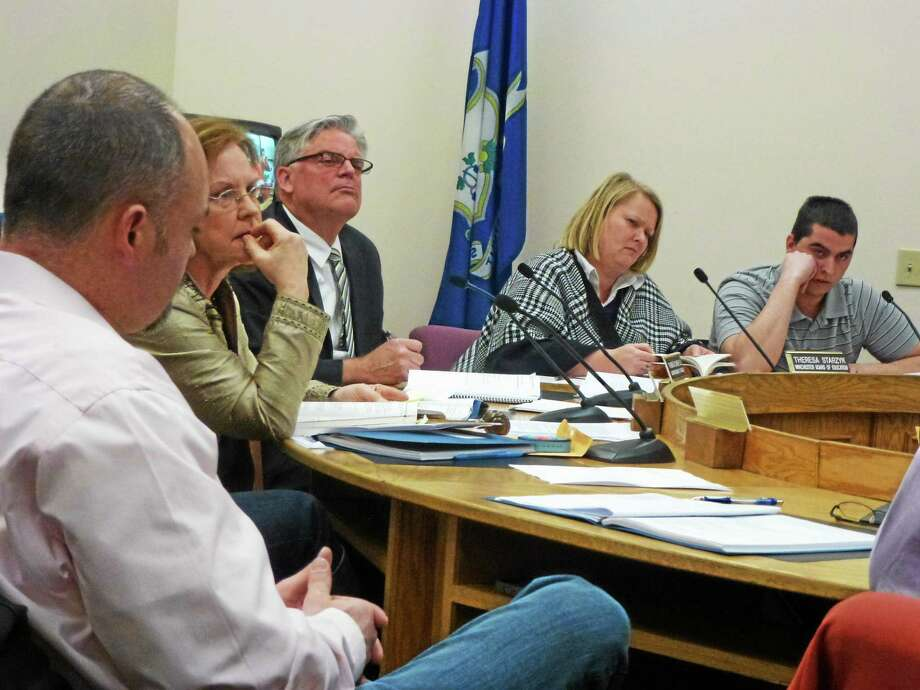 The Winchester Board of Education meets in February. Photo: Ryan Flynn — The Register Citizen