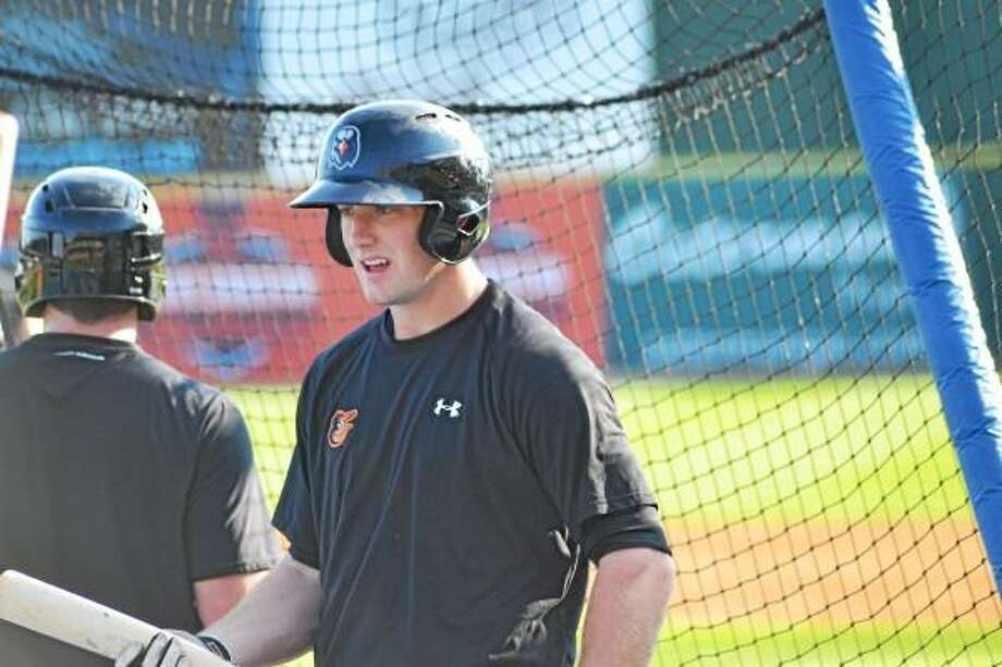 Pete Paguaga Register Citizen Conor Bierfeldt after taking batting practice before he went 2-for-4 with a double, a walk and a run scored in the Aberdeen IronBirds 10-2 win over the Connecticut Tigers.