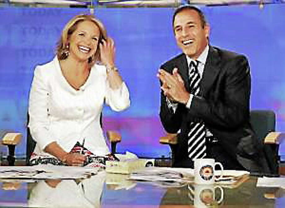 "Katie Couric and Matt Lauer, co-hosts of the NBC televison ""Today"" program, open her farewell broadcast in New York, Wednesday May 31, 2006. Photo: (Richard Drew — The Associated Press)"