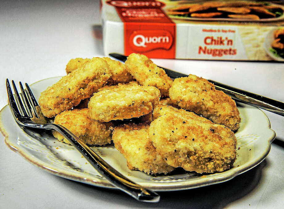 A plate of Quorn Chik'n Nuggets is shown in this July 29 photo taken in Washington. Thousands of consumers say a protein-rich fungus in Quorn products has caused them to experience allergic reactions and severe bouts of vomiting and diarrhea. The manufacturer says allergic reactions are rare and that their vegetarian product line is safe and healthy. Photo: Washington Post Photo By Bill O'Leary  / The Washington Post