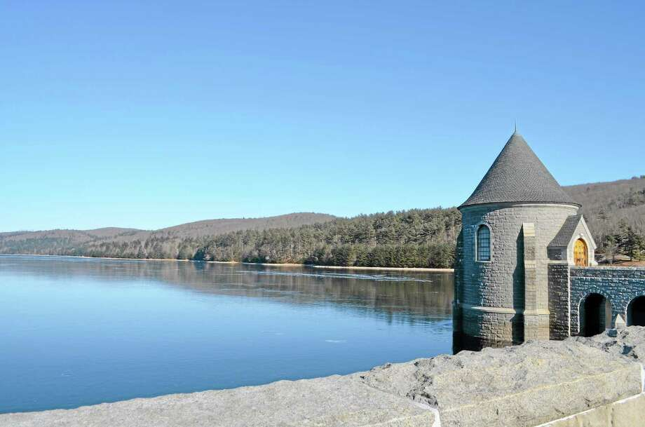 The Saville Dam as seen at the Barkhamsted Reservoir. Photo: Register Citizen File Photo