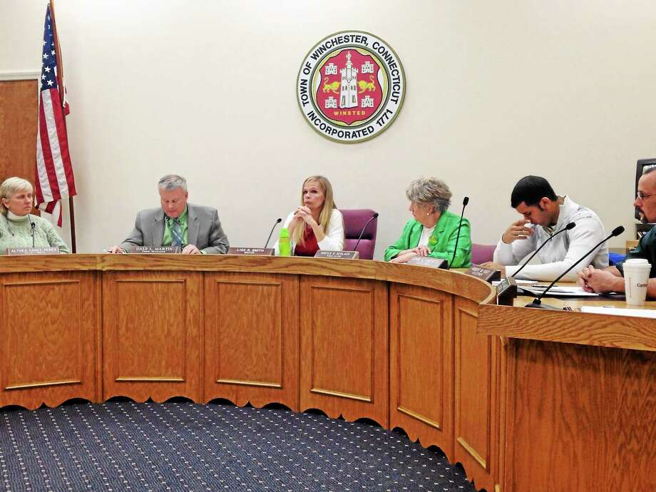 Winsted board of selectmen meeting March 17. Photo: Gayla Cawley - Special To The Register Citizen