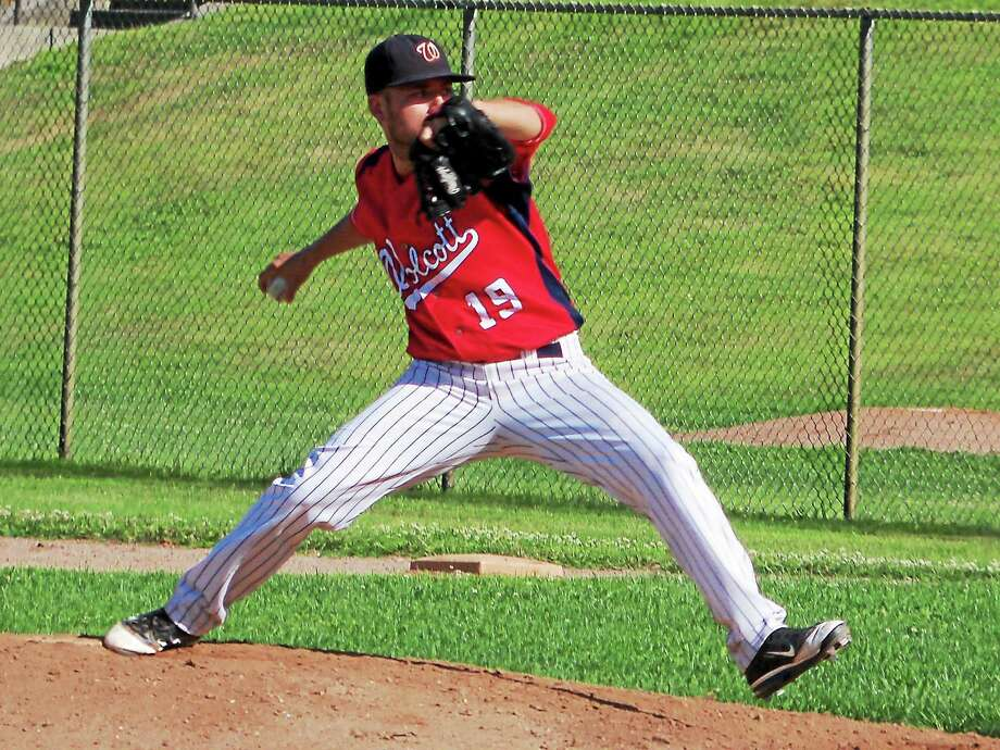 Wolcott's Justin Koutros went nine innings, allowing just two earned runs on seven hits while striking out five batters. Photo: Peter Wallace — The Register Citizen