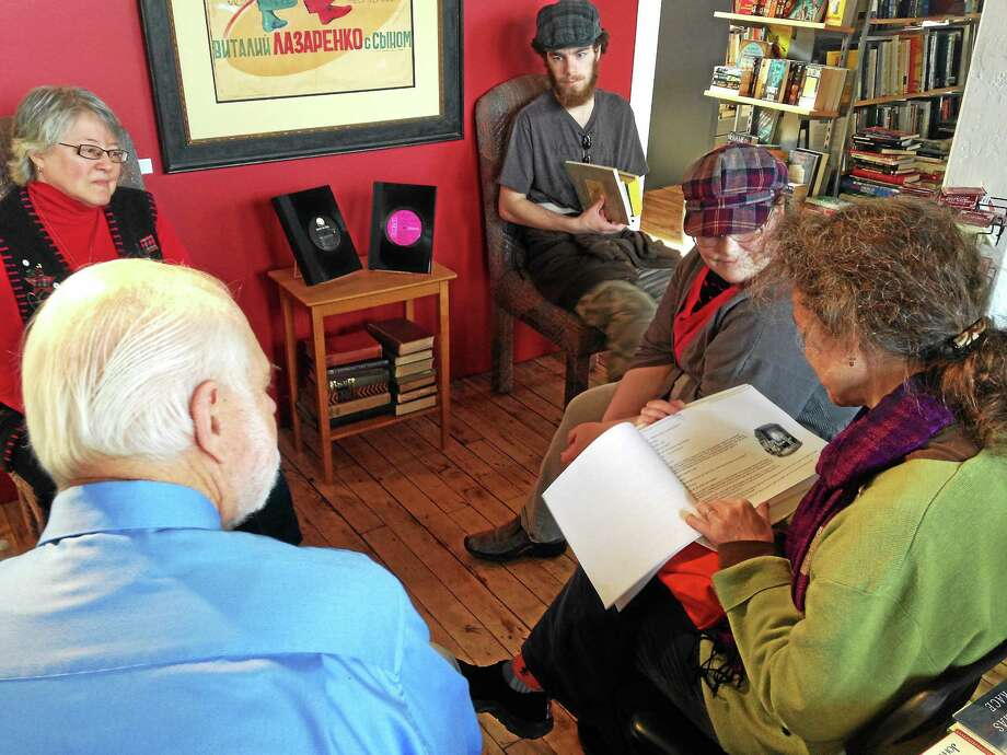 Dickens Books and Arts patrons take turn reading 'A Christmas Carol.' Photo: Photos By Mercy Quaye — Register Citizen