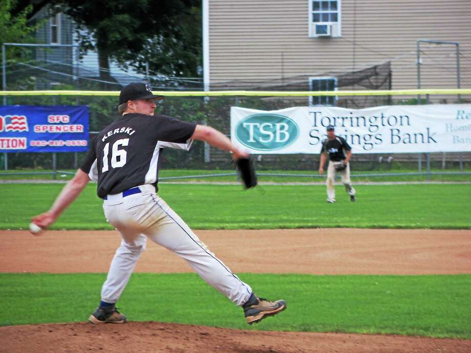 Terryville ace Ken Kerski came out on top in a pitcher's duel at Fuessenich Park Friday night. Kerski went nine innings with no runs, seven hits, 10 strikeouts and four walks. Photo: Peter Wallace Photos