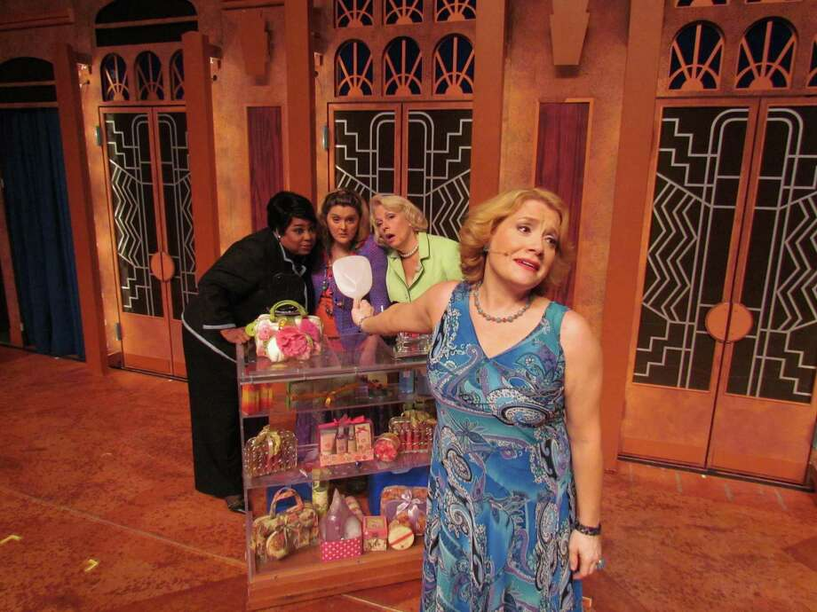 "Submitted photo - Eleah Hamilton Marketing Inspirations From left, ""Menopause the Musical"" cast members Roberta Wall, Megan Cavanaugh, Fredena Williams and Kimberly Vanbiesbrouck in a scene from the show, which is making a stop in Torrington Aug. 22-23 at the Warner Theatre."