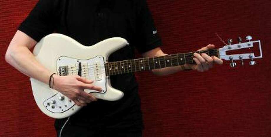 An electric guitar which belonged to The Grateful Dead's guitarist Jerry Garcia. Photo: Getty Images / 2013 Getty Images