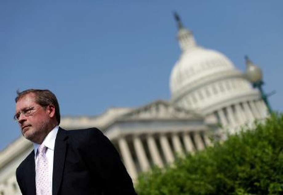 WASHINGTON, DC - SEPTEMBER 12:  Americans for Tax Reform President Grover Norquist attends a press conference discussing the taxation of marijuana businesses outside the U.S. Capitol September 12, 2013 in Washington, DC. The National Cannabis Industry Association is seeking tax reform to change the current policy that requires medical marijuana providers to pay taxes based on gross receipts rather than income.  (Photo by Win McNamee/Getty Images) Photo: Getty Images / 2013 Getty Images