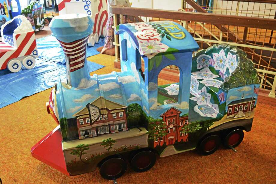 The train car sponsored by the Winchester Economic Development Commission, among others, are currently on display at the KidsPlay Museum on Main Street in Torrington. Photo: Ryan Flynn — The Register Citizen