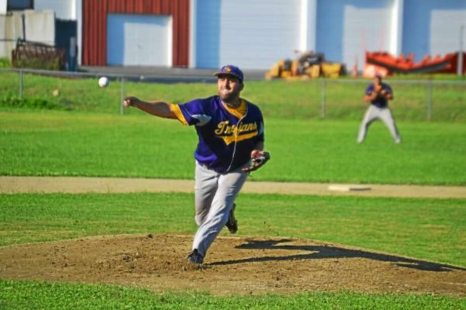 Pete Paguaga Register Citizen  Andrew Osolin made the start for the Tri-Town Trojans, taking the loss.