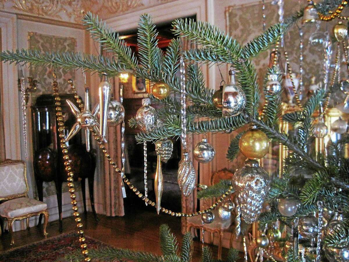 A close-up of one of the many decorated trees at the Hotchkiss-Fyler House in Torrington.