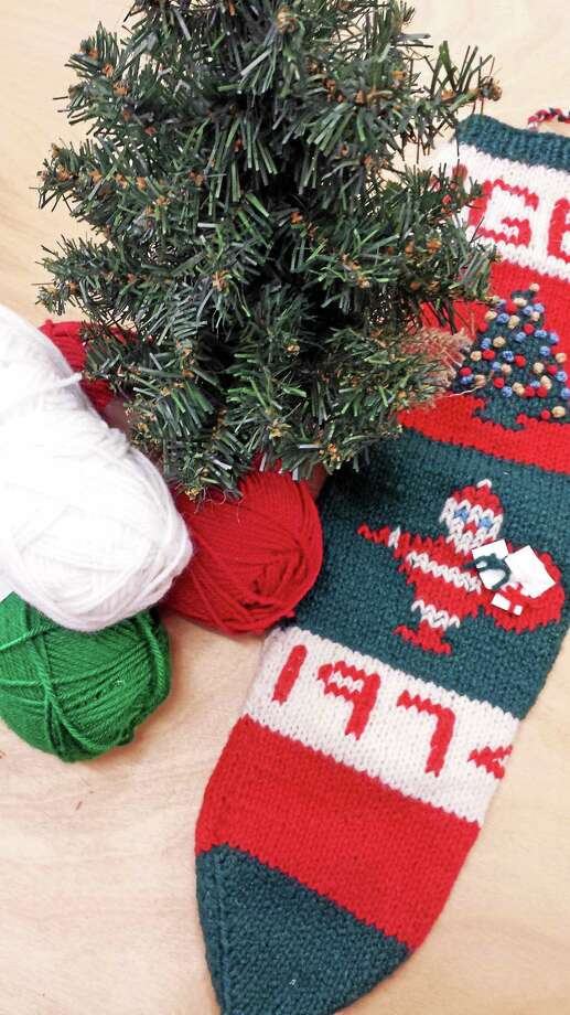 Submitted photo - Ginger Balch The last-minute projects, such as a holiday stocking for that special stocking, often mean the most to a dedicated knitter. Photo: Journal Register Co.