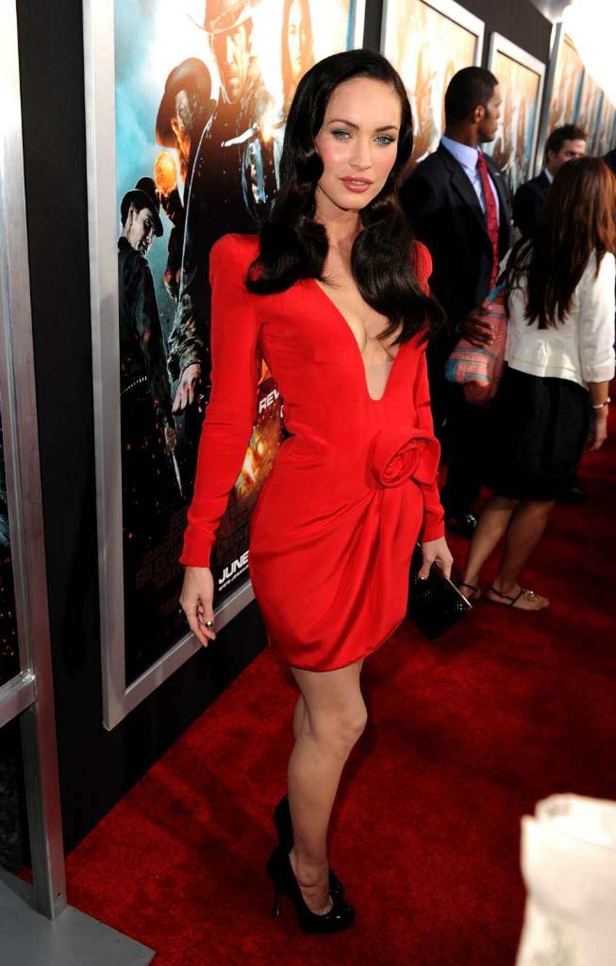 HOLLYWOOD - JUNE 17: Actress Megan Fox arrives at premiere of Warner Bros.