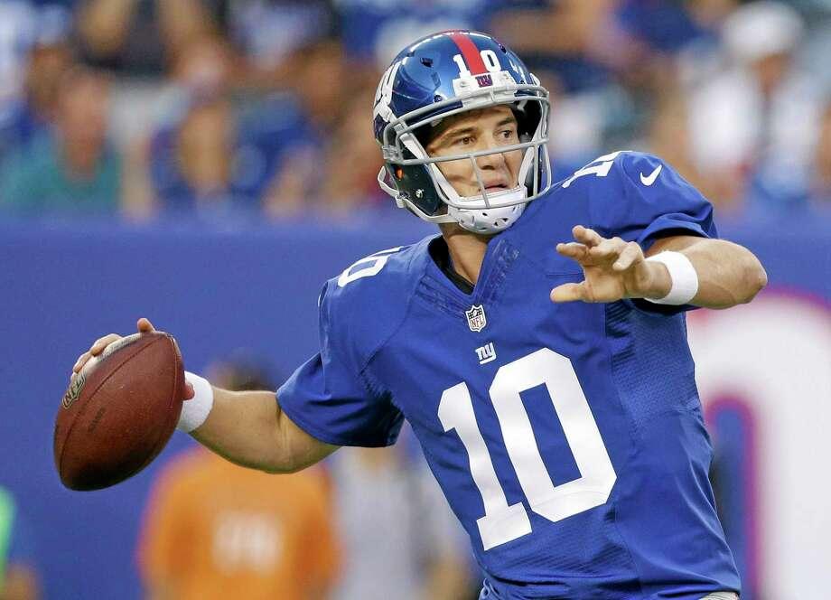 New York Giants quarterback Eli Manning. Photo: The Associated Press  / AP